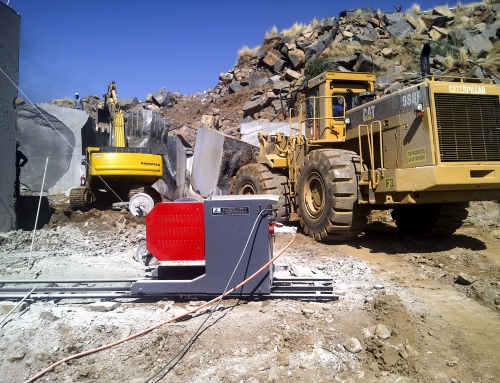 55Kw Quarry Saw in Operation