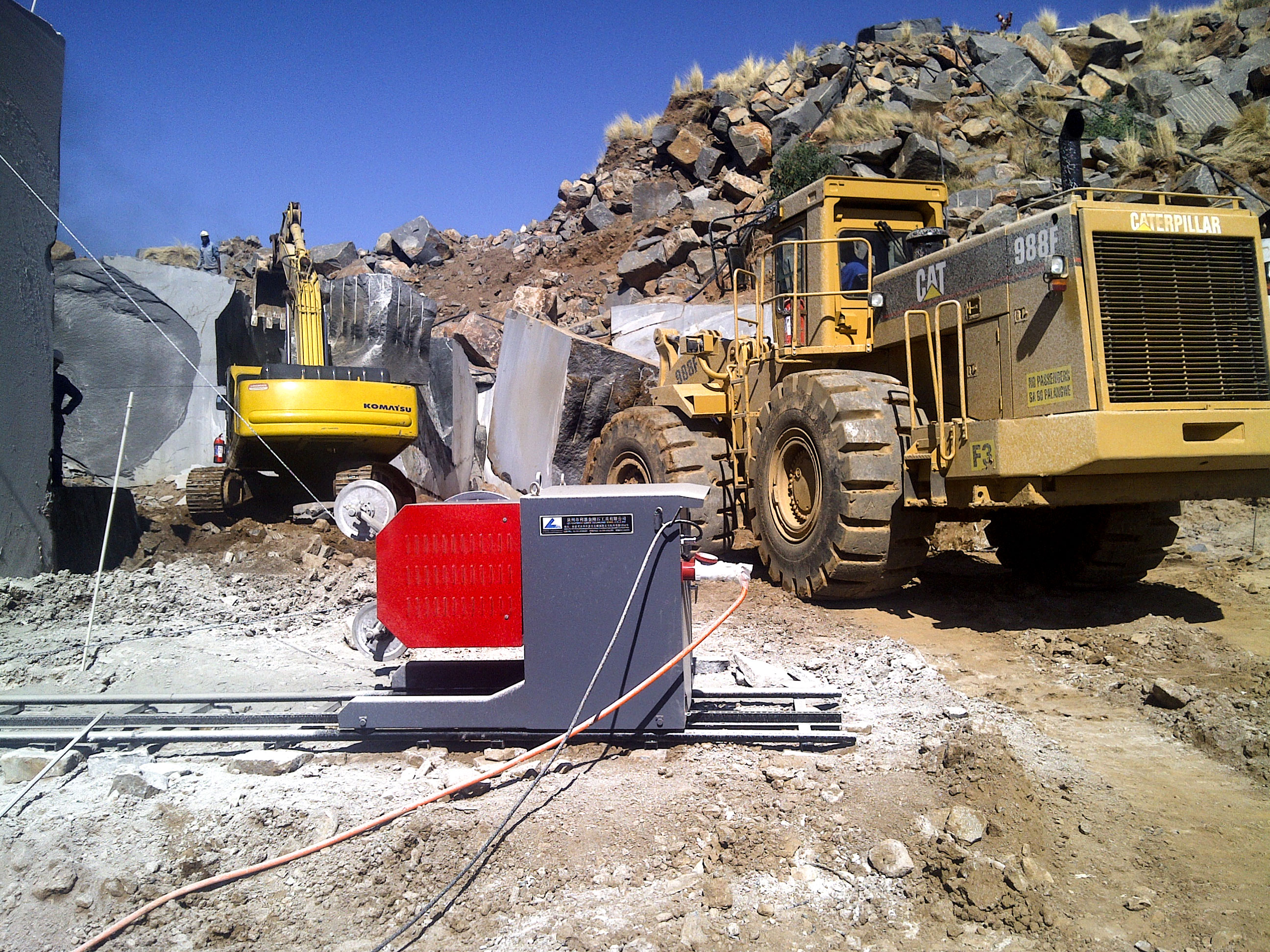 55Kw-Quarry-Saw-in-Operation